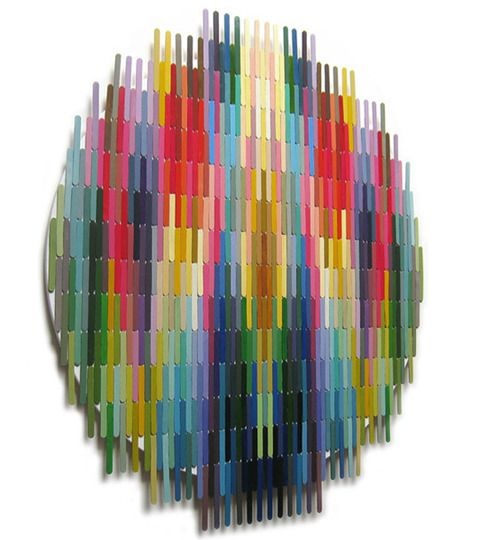 colored popsicle sticks by nathalie chikhi