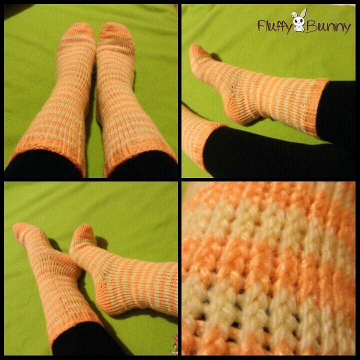 Cozy socks in happy colors! #handmade