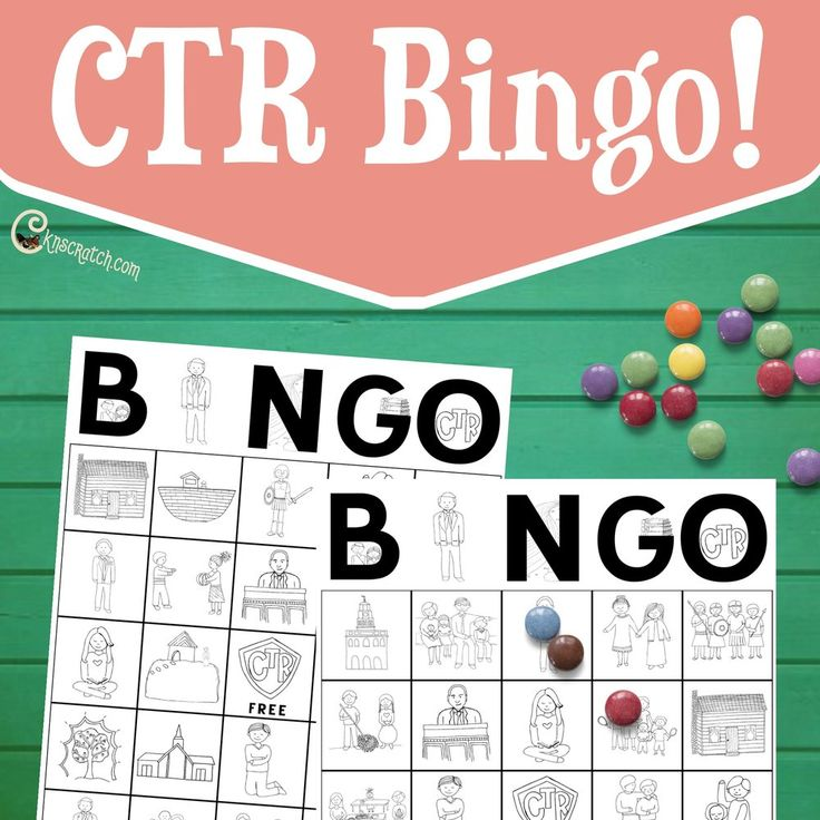 Add some fun to your Family Home Evenings or LDS church lessons with these  fun CTR Bingo cards! Great for      * LDS Primary Lessons     * FHE     * Reward Systems     * And more!  10 different boards in two sizes with LDS themed graphics that relate back  to righteous choices and church history. Find designs such as the Nauvoo  temple, a family helping each other, and President Thomas S. Monson. Each  board is 5x5 and has one free space in the middle- the CTR shield.  When someone gets a…