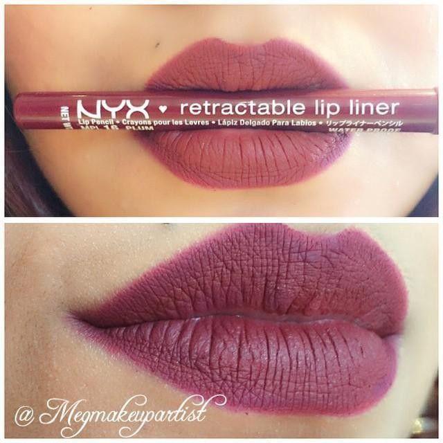 """NYX Lip Liner in """"Dark Red"""" and NYX La La Round Lipstick!!! LOVE"""