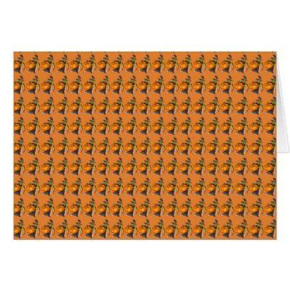 Halloween Pumpkin Dance Color Designed Card - diy cyo personalize design idea new special