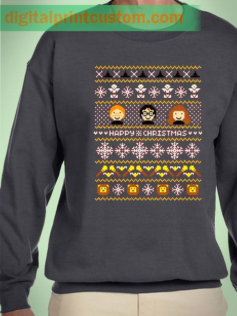 Harry Potter Happy Christmas Quote Unisex Sweatshirts #harrypotter #hogwarts #christmas #sweater #uglychristmas #gryffindor #severussnape