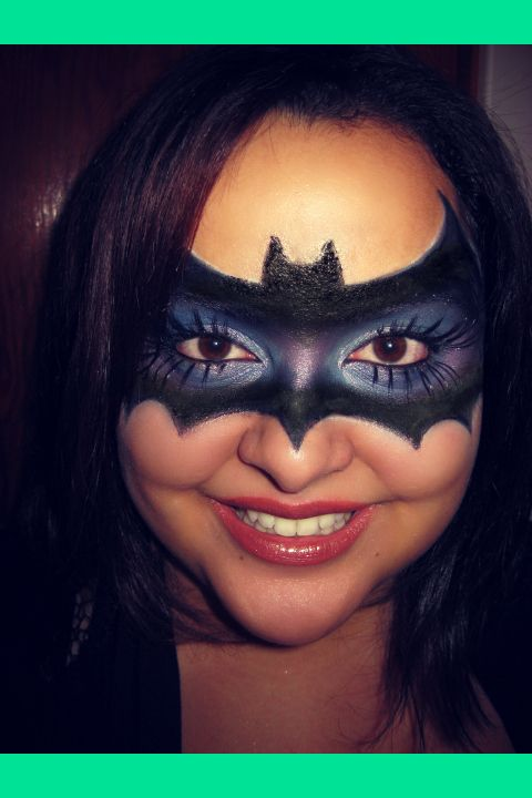 my version of a bat mask halloween makeup jenny - Halloween My Picture