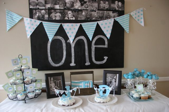 """Photo 1 of 16: Blue & Green, twins / Birthday """"Jack and Danny's first birthday"""" 
