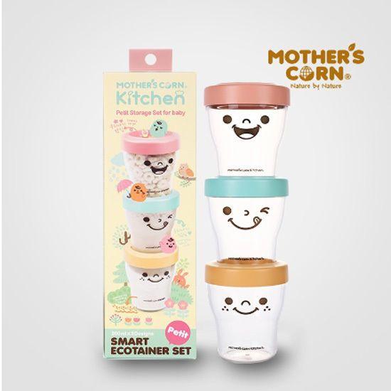Korean Mother's Corn Smart Eco Container 200ml X 3SET Baby Food Airtight Storage #KoreanMothersCorn
