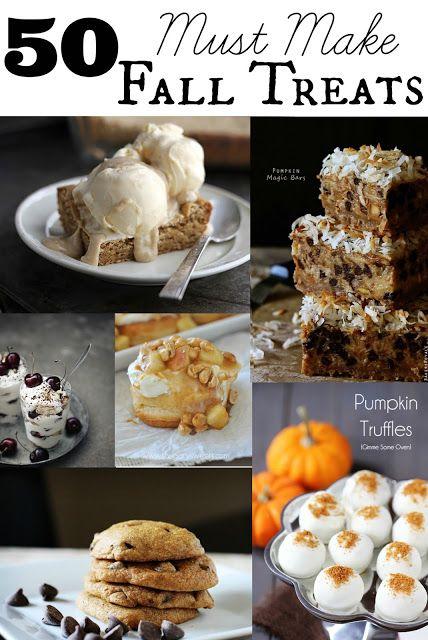 Fifty Must-Make Fall Treats - Creme De La Crumb http://lecremedelacrumb.com/2013/08/fifty-must-make-fall-treats.html