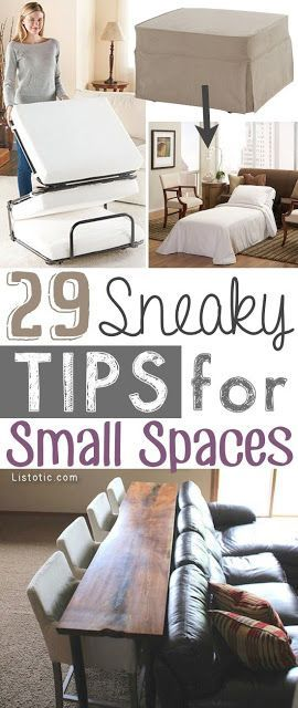 29 sneaky tips hacks for small space living - Small Space Diy Decor