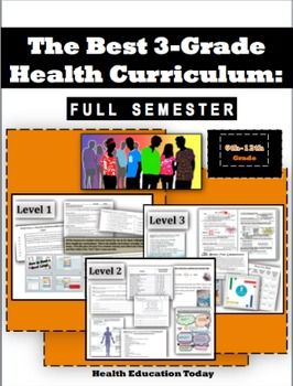 The Best Health Curriculum: Formatted for 3 Sequential Grade Levels.