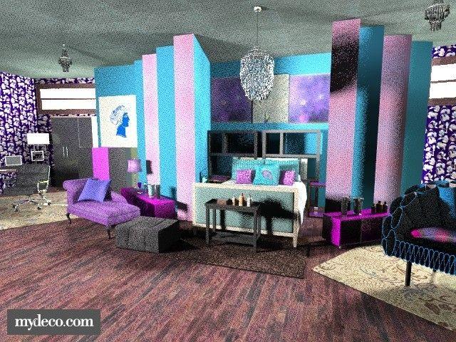 Peacock Bedroom  . Bedroom. Glamour