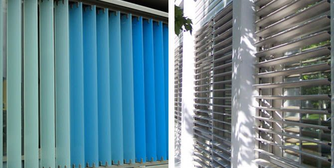 """Protecciónes solares de aluminio en el portal """"Ventanas y Puertas de aluminio"""" ( http://www.ventanasypuertasdealuminio.es/proteccion-solar-en-la-construccion-de-puertas-y-ventanas/n41/)"""