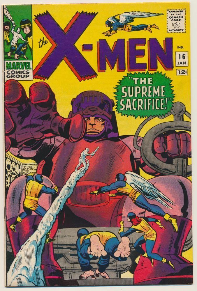 X Men 16 Jan 1966 Vf 8 0 Marvel Comics Covers Silver Age Comics Comics