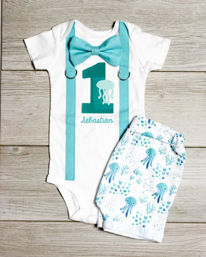 8762799bace1 Under the Sea 1st Birthday Outfit for Boys. Summer birthday