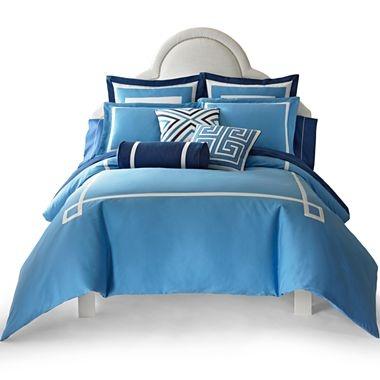 happy chic by jonathan adler elizabeth solid duvet cover set accessories jcpenney coastal. Black Bedroom Furniture Sets. Home Design Ideas