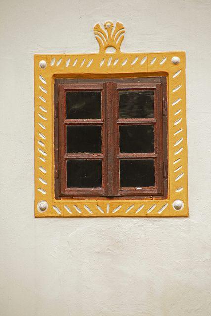 "'South Bohemian folk Baroque"" windows by daniel.virella, via Flickr"