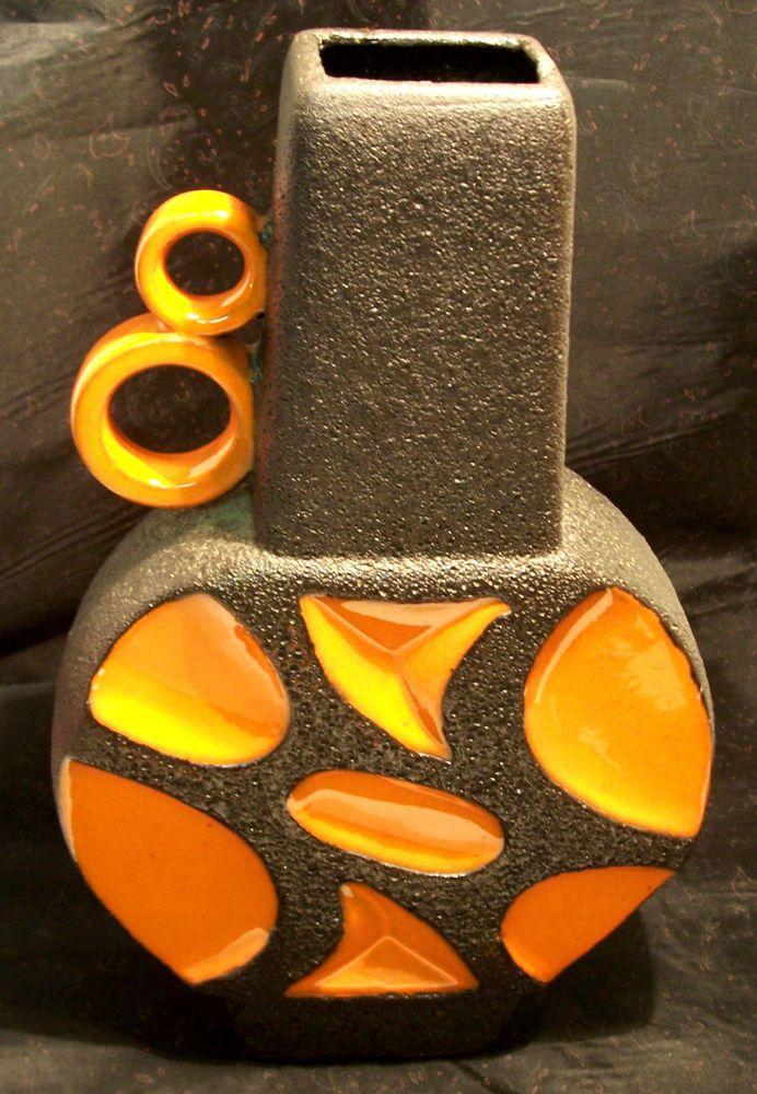 XXL Pop Art 70er Jahre ROTH Fat Lava - Banjo Vase - 40 cm