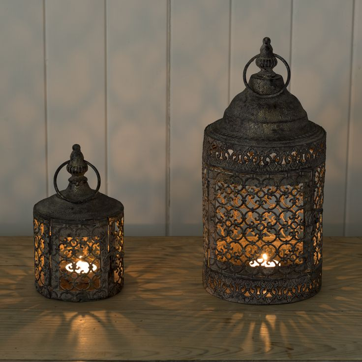 Lantern * Large Lattice Garden Candle Lantern | Flower Studio Shop