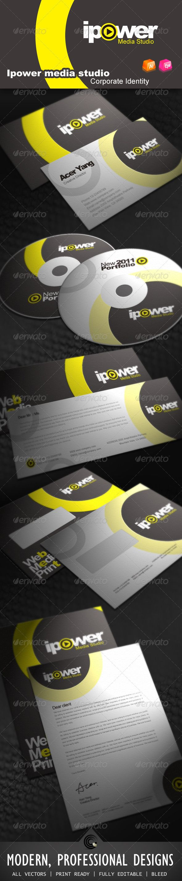 Ipower Midea Studio Corporate Identity GraphicRiver File