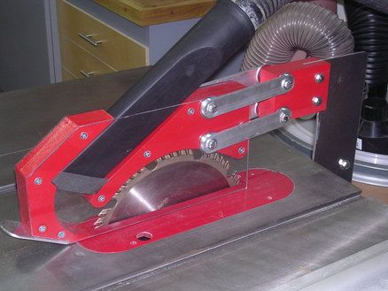 Tablesaw blade guard with dust collection!