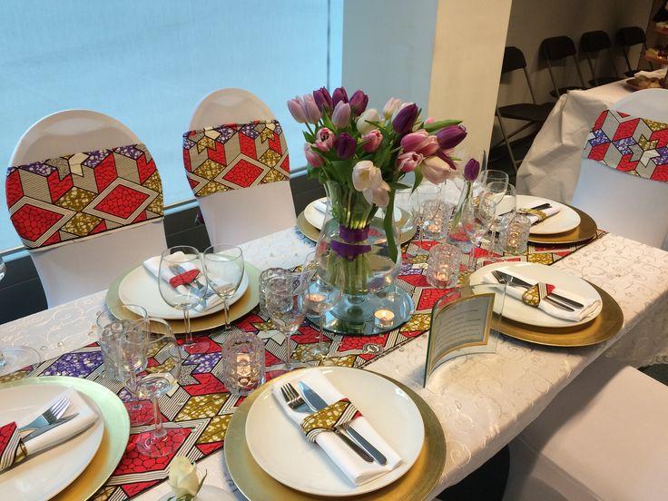 Déco de table en pagne www.little-mimi.com