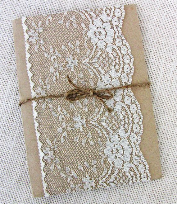 Rustic Lace, Elegant Designed wedding invitation, The perfect mix of rustic, and elegance! The invitation is printed on crisp Off white paper and