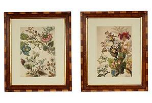 Japanese Fantasy Flower Prints, Set of 2 $749.00