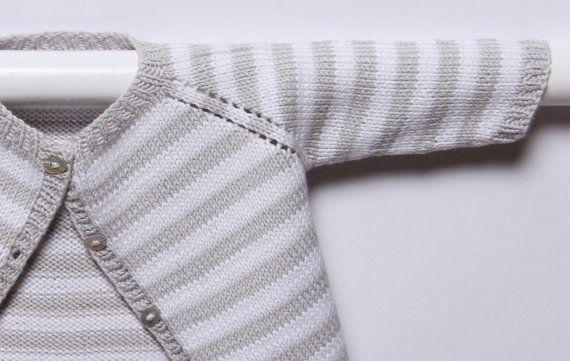 Modèle tricot Cardigan rayé / Instructions en par LittleFrenchKnits