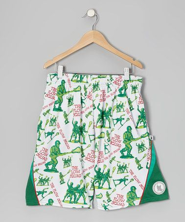 Green Army Man Lacrosse Shorts - Boys by Flow Society  on #zulily today!