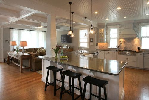 Roomy kitchen layout ideas modern kitchen layout ideas for Kitchens with islands in the middle
