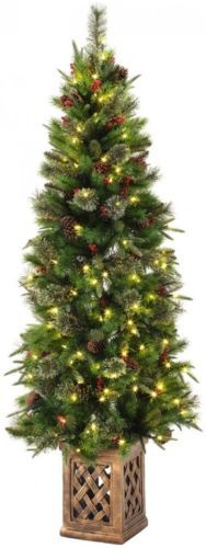 Artificial Christmas Trees 117414: 6.5 Ft. Pre-Lit Warm White Led Potted Artificial Christmas Tree Decor -> BUY IT NOW ONLY: $79.35 on eBay!