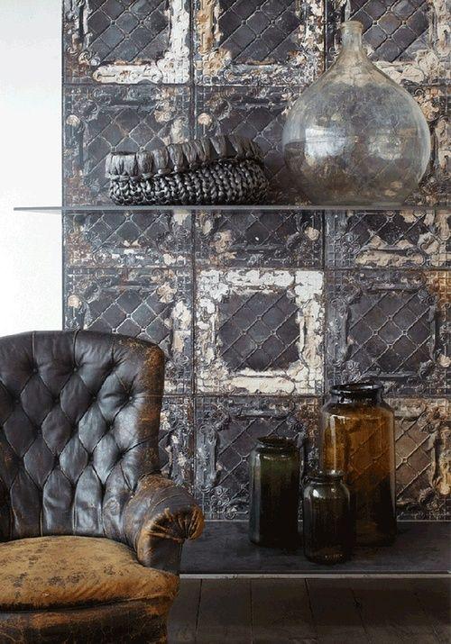 Brown, rustic, interior - bachelor pad?