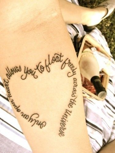 heart tattoo writing