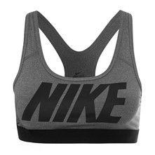 Nike Pro Classic Logo - Brassière de sport - gris foncé