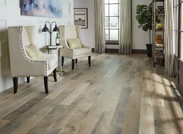 "3/8"" x 6-3/8 Vintage French Oak Wirebrushed - Virginia Mill Works Engineered 