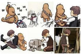 Star Wars, meet Winnie the Pooh: James Of Arci, Pooh Bears, Stars War Nurseries, Baby Boys, Fans Art, Hans Solo, Winnie The Pooh, Children Books, Christopher Robins