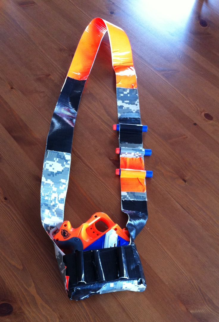 Nerf gun holster made from duct tape.