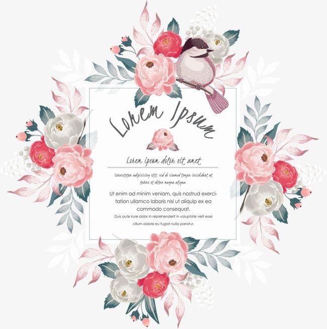 Camellia Invitation Letter Vector Material Camellia