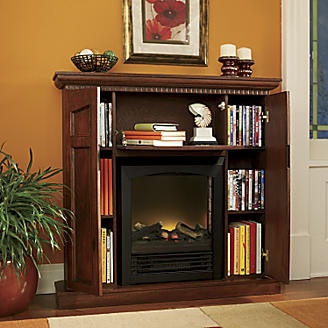 Electric Fireplaces Storage And Electric On Pinterest