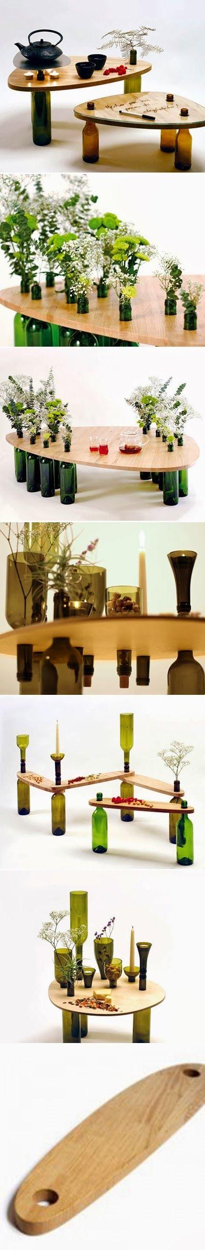 DIY : Used Wine Bottle Table | DIY & Crafts Tutorials