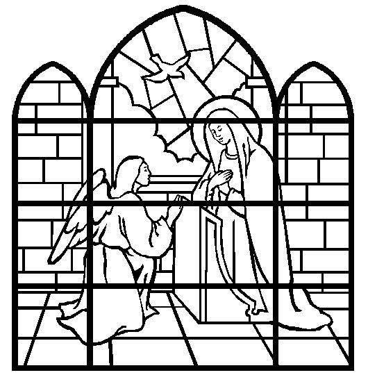Coloring Book The Annunciation Stained Glass