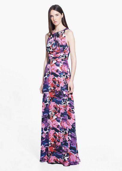 Vestido largo estampado | MNG