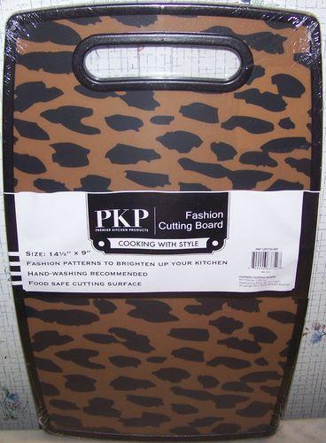 Leopard Print African Safari Animal Kitchen Plastic Cutting Board 9,71€