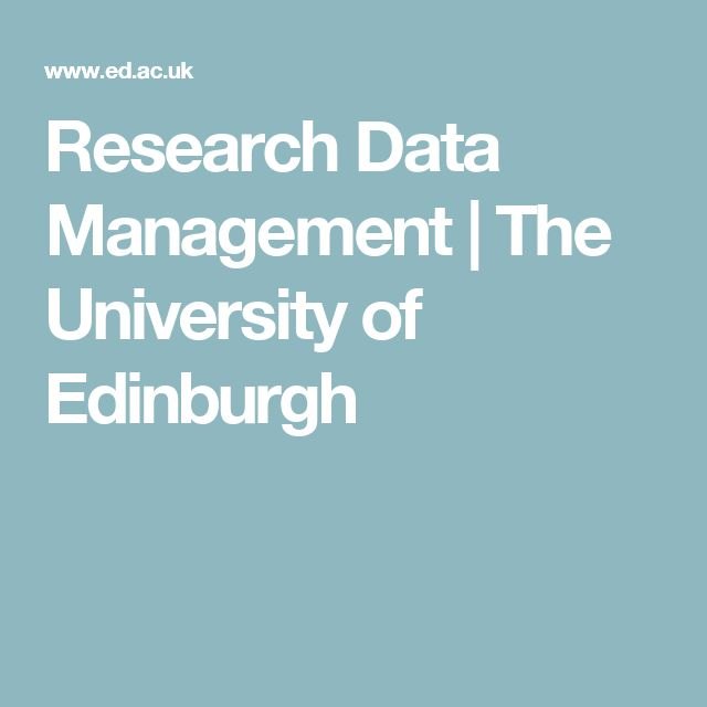 Research Data Management | The University of Edinburgh
