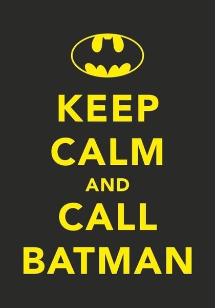 "I enjoy a good ""keep calm"" poster."