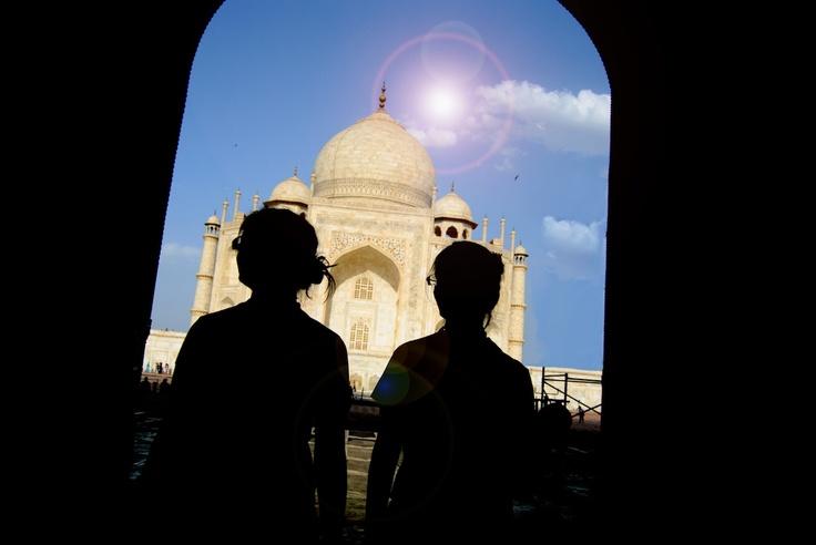 Taj Mahal silhouettes