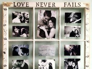 Old Window Frame  Love Never Fails Distressed by SimplySophiaMaria, $79.00