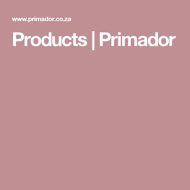 Products | Primador