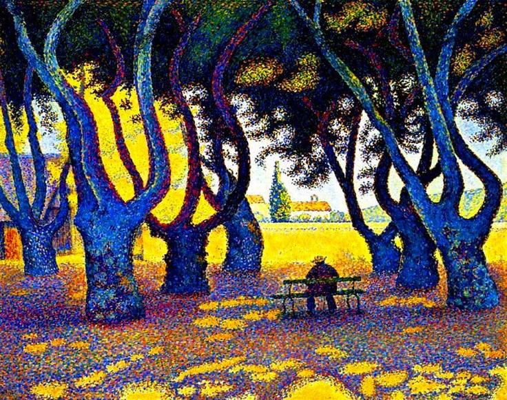 """PAUL SIGNAC: """"Place des Lices - St Tropez"""" (1893)  (pour ma fille / for my daughter)"""
