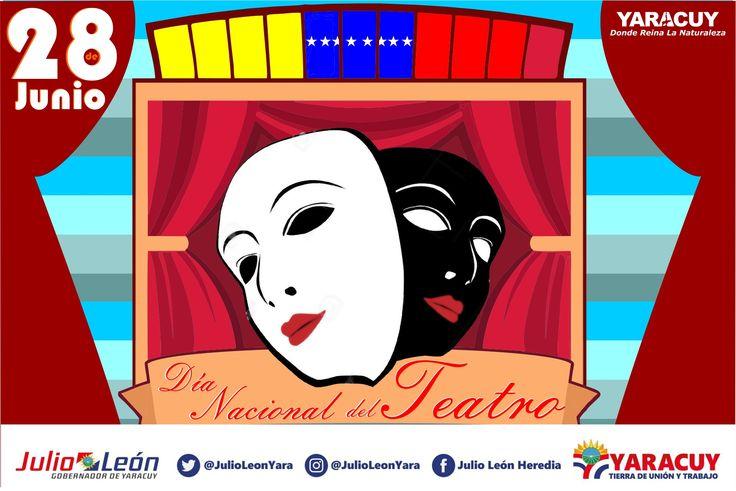 """#FelizMierdoles #28Jun Día Nacional del Teatro, """"El teatro es poesía que se sale del libro para hacerse humana"""". Federico García Lorca #Yaracuy DOnde Reina La Naturaleza"""