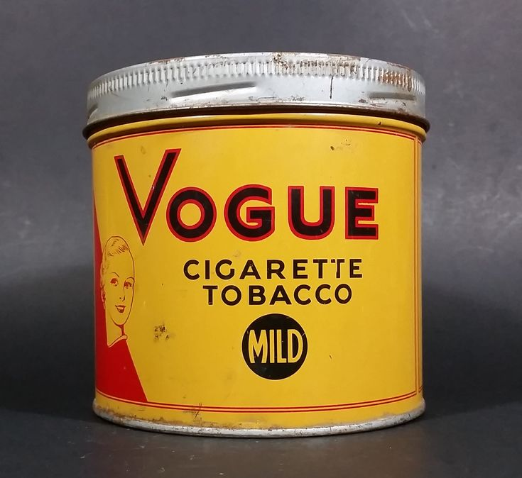 1960s Vogue Mild Cigarette Tobacco Tin w/ Lid https://treasurevalleyantiques.com/products/1960s-vogue-mild-cigarette-tobacco-tin-w-lid #Vintage #1960s #60s #Sixties #Vogue #Mild #Cigarettes #Tobacco #Tobacciana #VintageTins #Tins #Collectibles #Montreal #Quebec #Canada #Canadian #Imperial #ManCave #Garage #SheShed #Decor #BuyNow #VisitUsToday