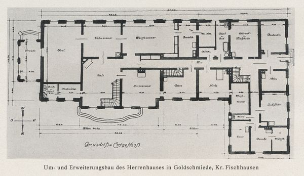 Goldschmiede, Herrenhaus, Erdgeschoss, Grundriss
